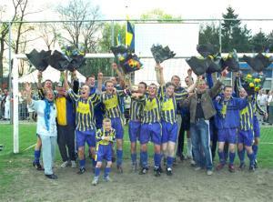 Het kampioenschap is binnen voor SV Valkenswaard. (foto Jurgen van Hoof)