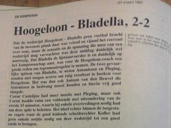 Hloon-Bla 2-2 mrt.1991 1e kl.BB uitsnede